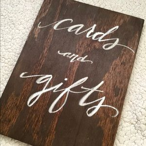 'Cards and gifts' wedding sign